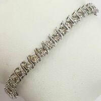 Christmas sale Certified 6.0 Ct Round Cut Diamond Tennis Bracelet 14k White Gold