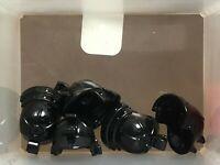 HEADGEAR Lego Roman-Spartan Helmet Metallic Gold Black Plume custom Genuine Lego