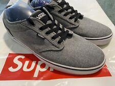 VANS Mens Sz.12 Era Skate Shoes Plaid Lace-Up Canvas Sneakers Gray Black White