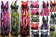 2262Sexy Women Summer Beach Long Maxi BOHO Evening Hawaiian Party Dress Sundress