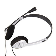 3.5mm Stereo Headphone Headset with Mic Volume Control MSN Skype for PC Laptops