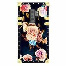 Funermei Flower Luxury Case for Samsung Galaxy S9 Plus,3D Soft Colorful Rose Flo