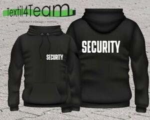 Security Hoodie Kapuzenpullover Sicherheitsdienst Türsteher Leichter Stoff