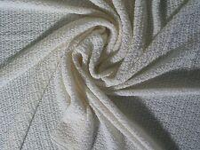 Stoff Strickstoff 100% Merino Wolle natur wollweiß weicher Feinstrick Meterware
