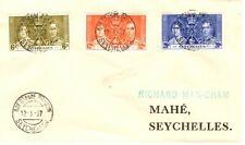 Seychelles 1937 Coronation FDC - Bay St Anne praslin postmark