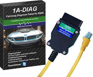1A-DIAG ENET Diagnose Interface für BMW F-Modelle komp. zu Rheingold E-SYS ISTA