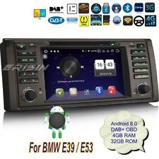 Autoradio BMW E39 E53 Android 8.0 X5 M5 5er Navigatore DAB+GPS CAM DVR TPMS 7339