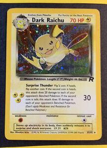 Dark Raichu 83/82 Team Rocket Unlimited Holo Rare Pokemon Card Secret - LP