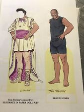 16 Large Paper Dolls Tom Tierney Signed Artists Bruce Jones John Axe