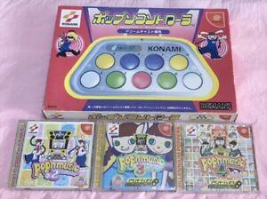KONAMI Pop'n Music Controller Bemani Dreamcast DC Boxed w/ 3 game discs JAPANESE