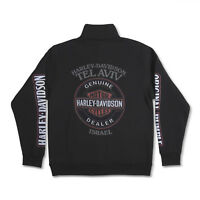Harley-Davidson sweatshirt Long Sleeves Men Woman Tel Aviv Israel Black