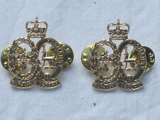 201 Yeomanry Battery,Royal Artillery,Collar badges,Anodised Aluminium Staybright