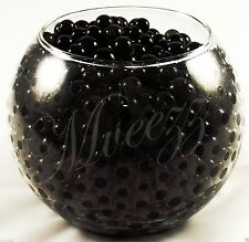 400 Water Beads Crystal Bio Soil GEL Ball Wedding Vase Vase Filler Party Black