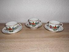 Hutschenreuther Maria Theresia  Mandarin Gedeck 3x Porzellan Hofburg Kaffee  ☆