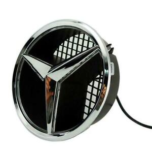 For 06-13 Mercedes Benz Motor Front Star Grille White Emblem White light LED