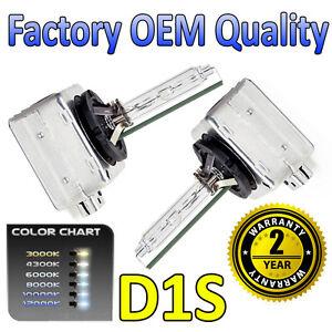 2 x 12k D1S HID Xenon OEM Replacement Headlight Bulbs 66144 - 2 Year Warranty