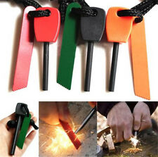 Survival Magnesium Flint And Steel Striker Fire Starter Lighter Stick Outdoor