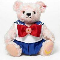 Steiff x Sailor Moon Teddy Bear Plush Doll 25th Anniversary Limited Japan F/S