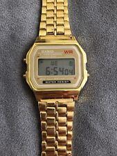 New Casio A168 A168WGA Illuminator Vintage Retro Gold Digital Watch A168WG-9W
