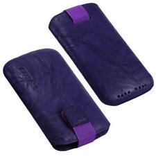 Für HTC Evo 3D, Sensation Handy ECHT LEDER Tasche/ Case/ Etui/ Hülle Lila NEU