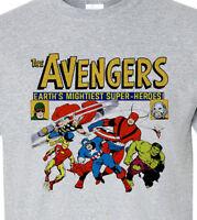 The Avengers tee shirt retro silver age marvel comics Giant-Man Thor Hulk cotton