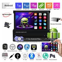 7''1 Din GPS Android Autoradio+CAM Écran tactile Sans fil Miroir Lien FM Wifi BT