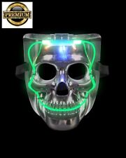 FREE SHIPPING Top Quality led Light up Skull Mask Halloween horror costume adult