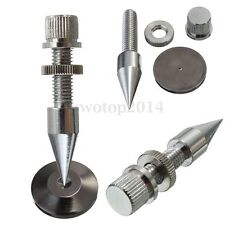 4PCS M8*60 Speaker Copper Isolation Spike Stand Foot Set With Cone Base Pads