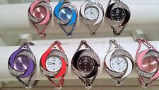 Joblot of 18 Mixed colour Wire Cable Diamante Watches new wholesale - lot T
