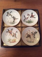 PHEASANT #3 SET OF 4 COASTERS RUBBER WITH FABRIC TOP