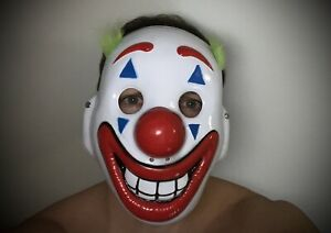 Cosplay DC Movie Joker Arthur Fleck Mask Clown Protest Halloween Mask