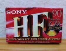 Sony HF CD High Fidelity for Music Voice C-90 HFC Kasseten