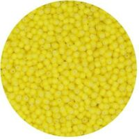 Czech Glass Seed Beads Size 11/0 Yellow White Heart