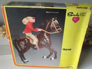 ~ 1978 Louis Marx Sindy Doll Articulated Horse with  Accessories ~