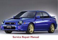 SUBARU IMPREZA STI 2002 OFFICIAL FACTORY SERVICE REPAIR MANUAL PDF FAST SEND