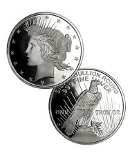 Peace Silver Dollar Design 1 Troy Ounce .999 Fine Silver Round SKU34187