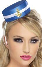 azul de Mujer Marinero Náutico Mini Sombrero despedida de soltera ancla