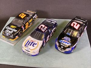 3 Rusty Wallace Action 1:24 Action Diecast Cars Signed 1999 Chrome ML MGD Bank