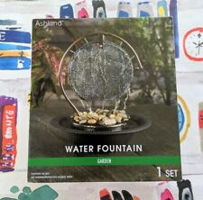 NEW Ashland Indoor Table Top Small Gong Water Fountain Relax Zen Tranquil Decor