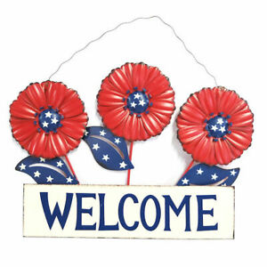 Red, White and Blue Patriotic Welcome Sign, Indoor/Outdoor