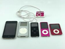 Lot of 6 Apple iPods All Working Shuffle Touch Mini Nano 3rd 4th Generation