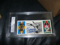 Warren Spahn Autographed Card Rare PSA Cert Encapsulated