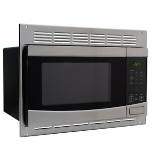 RecPro RV Microwave Stainless Steel 1.0 Cu. Ft. Includes Trim Package