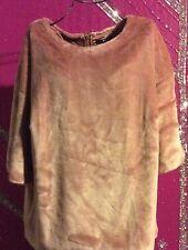 h&m large pink fur and silk shirt
