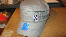 NWT ADIDAS NORTHWESTERN WILDCATS WOMENS MILITARY HAT CAP GRAY OSFA