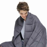 Cooling Weighted Blanket for Adults - 100% Cotton Material with Glass Beads