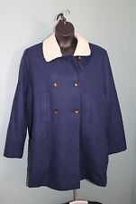 Old Navy Women's Navy Blue Wool Pea Coat w/ Removeable Collar Size L