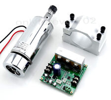 CNC Spindle Motor 400W ER11 & Mach3 PWM speed controller + Mount Engraving Kit