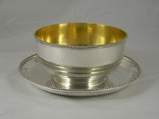 John C Moore Tiffany & Co Coin Silver Gilt Bowl w Underplate 271 Broadway 1852