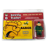 Beetle Bailey Sarge Book and Figure Set Mort Walker Comic Strip Collectible NEW